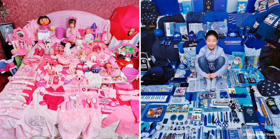 Розовое и голубое: фотопроект о традиционных детских цветах