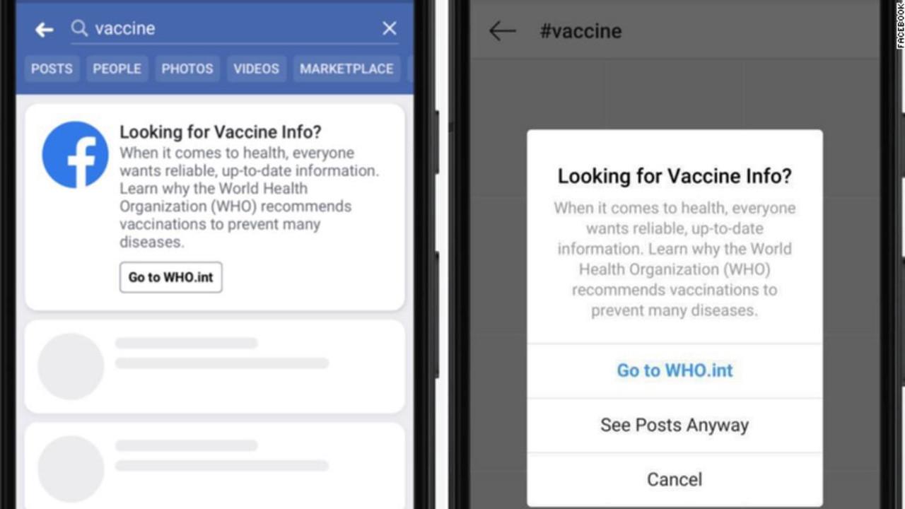 Facebook начал тестировать механизм борьбы с антипрививочным контентом