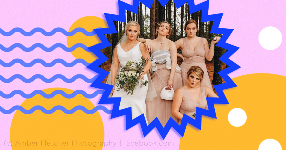Подружка невесты с молокоотсосом на груди стала звездой Сети